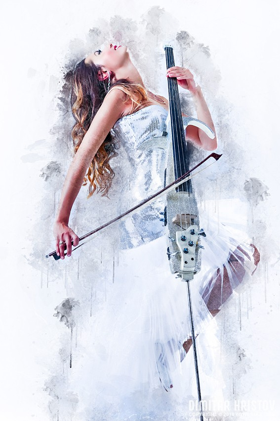 Woman Playing Cello – Fashion Art Music Portrait photography portraits photomanipulation featured fashion  Photo