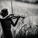 Famous Female Playing Violin