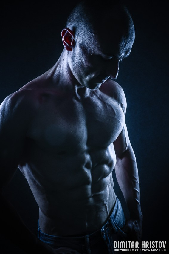 Portrait of strong Athletic Fitness Man photography portraits featured  Photo