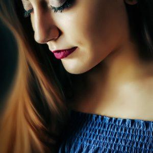 Sensual Close-up portrait of a girl