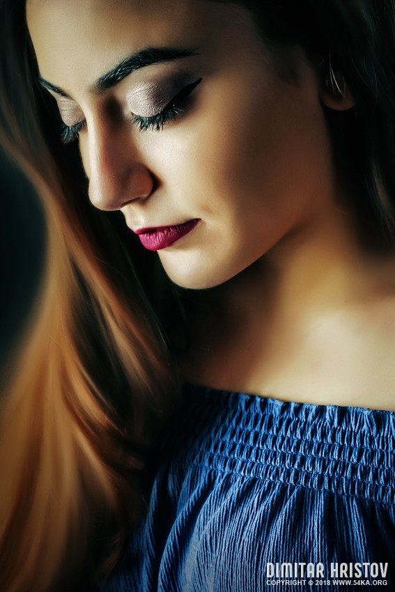 Sensual Close up portrait of a girl photography portraits  Photo