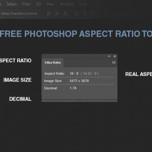 Photoshop Aspect Ratio Tool – Free Photoshop Plugin by 54ka