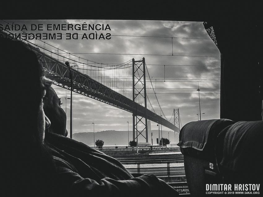 25 de Abril Bridge photography urban black and white  Photo