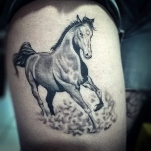 Beautyful Fan Art Horse Tattoo