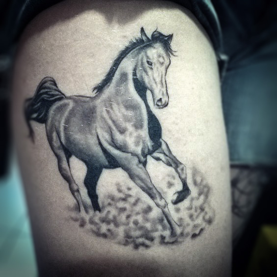 Beautyful Fan Art Horse Tattoo stream from fans  Photo