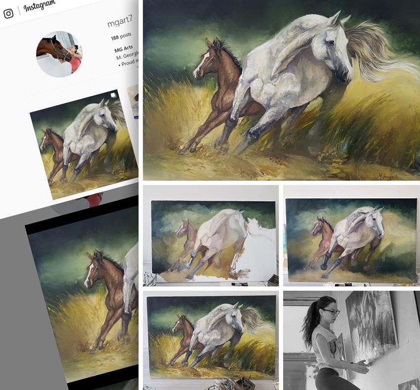 Brilliant Fanart Painting by Mihaela Georgieva stream from fans  Photo