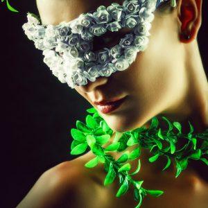 Flower Princess – Woman wearing masquerade carnival mask
