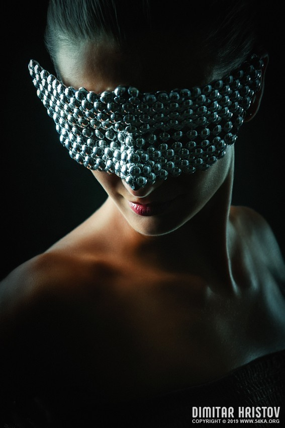 Silver Mask   Silver Chrome Metal Masquerade Eye Mask photography venetian eye mask featured fashion  Photo