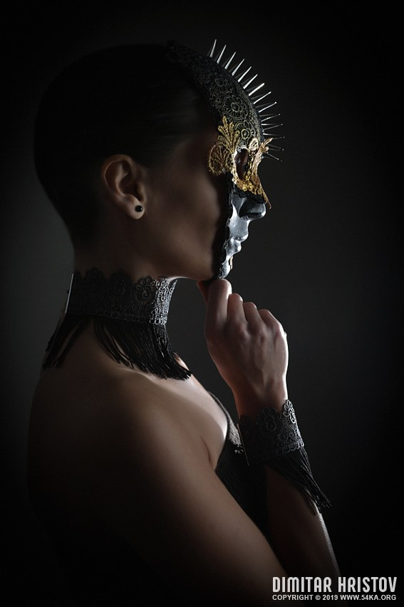 Ladys spike mask photography venetian eye mask featured fashion  Photo