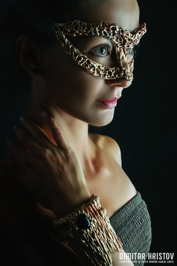 Venetian carnival jewelry face mask photography venetian eye mask portraits featured fashion  Photo