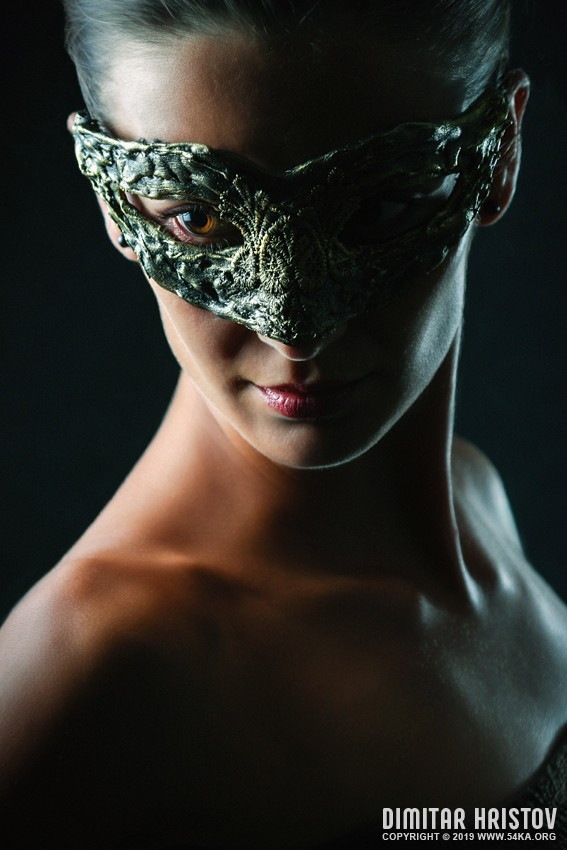 Woman with vintage eye mask photography venetian eye mask portraits featured fashion  Photo