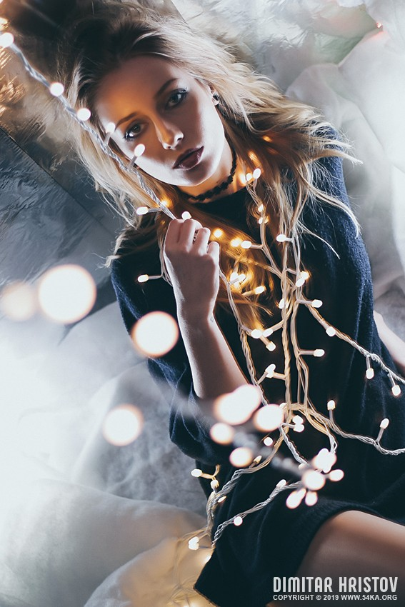 Christmas lights fashion portrait photography featured fashion  Photo