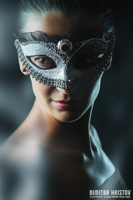 Beauty fashion mask   Closeup Beauty Portrait Fashion Model photography venetian eye mask featured fashion  Photo