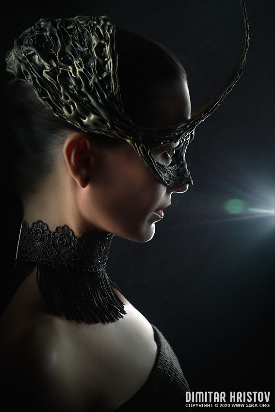 Crown mask   Fashion Portrait photography venetian eye mask fashion  Photo