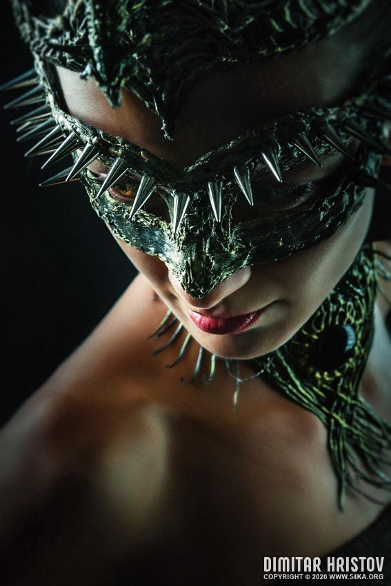 Dragon beauty photography venetian eye mask fashion  Photo