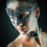 Girl with Dragon mask – Studio fashion portrait