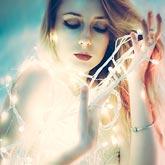 Luminescence fashion portrait