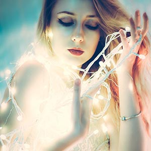 Luminescence fashion portrait