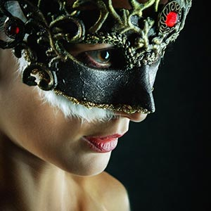 Red Brilliant Masquerade Mask