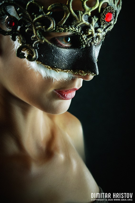 Red Brilliant Masquerade Mask photography venetian eye mask featured fashion  Photo