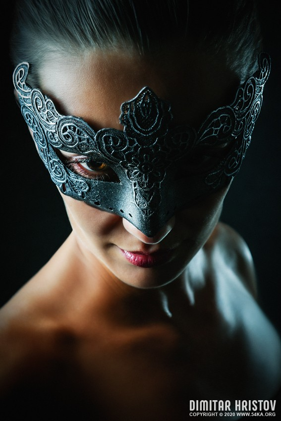 Strobist portrait of a girl with superhero mask photography venetian eye mask featured fashion  Photo