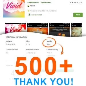 Vivid Harmony – Installs 500+ Thank You!
