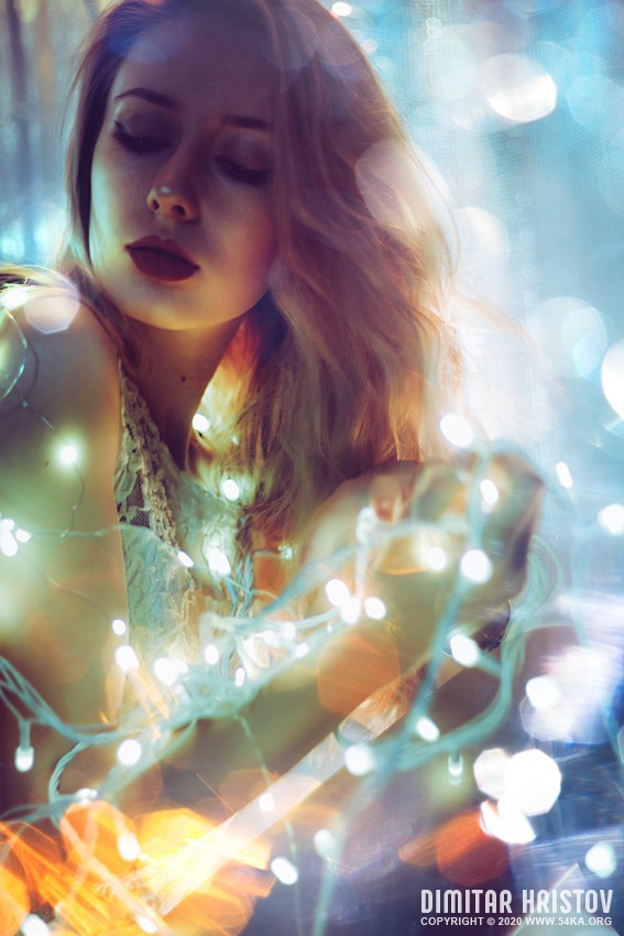Winter light portrait photography featured fashion  Photo