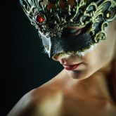 Red Brilliant Venetian Masquerade Mask