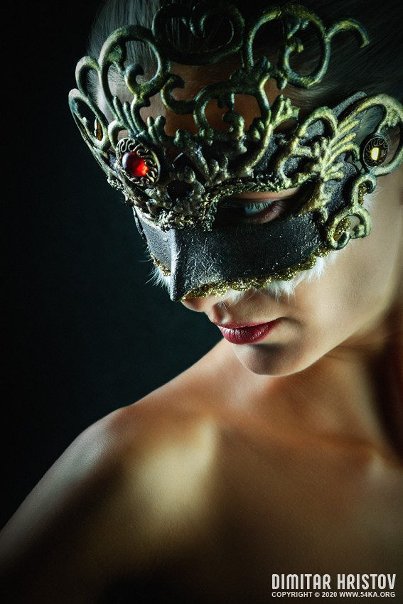 Red Brilliant Venetian Masquerade Mask photography venetian eye mask fashion  Photo