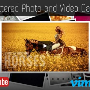 Scattered Photo and Video Gallery – JavaScript / jQuery – YouTube and Vimeo Gallery