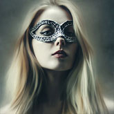 Portrait of Young Woman With Fashion Eye Mask