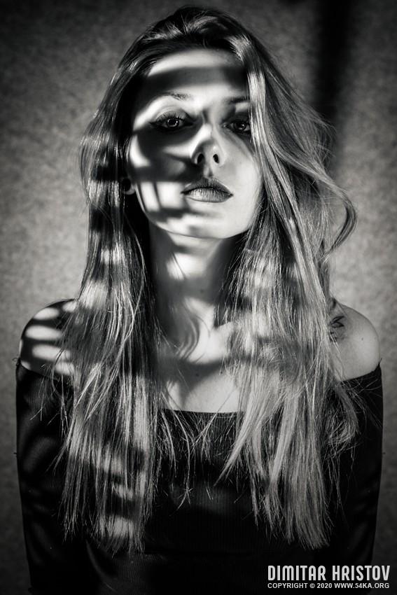 Black and White Girl Fashion Studio Portrait photography portraits fashion black and white  Photo