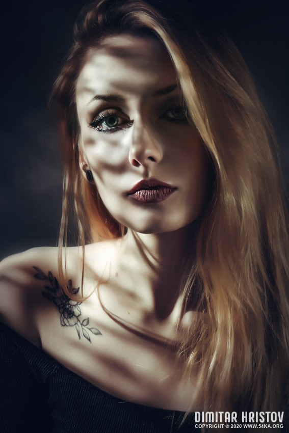 Dynamic studio light and shadow strobist portrait photography portraits featured  Photo