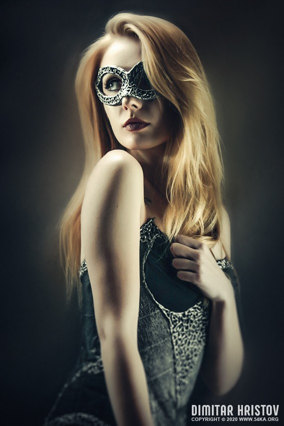 Fairytale girl portrait photography photography venetian eye mask portraits featured fashion  Photo