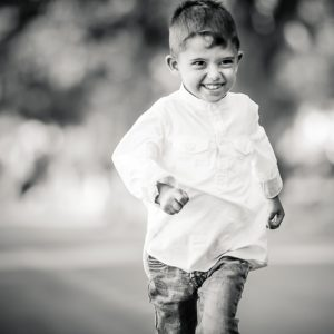 Kid portrait in black and white