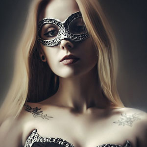 Masked Girl – Studio Fashion Portrait