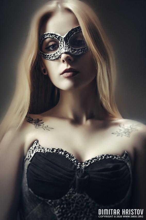 Masked Girl – Studio Fashion Portrait photography venetian eye mask featured fashion  Photo