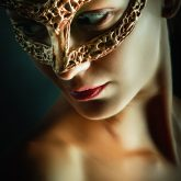 Girl portrait with fairytale mask