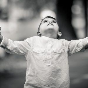 Kid portrait in black and white II