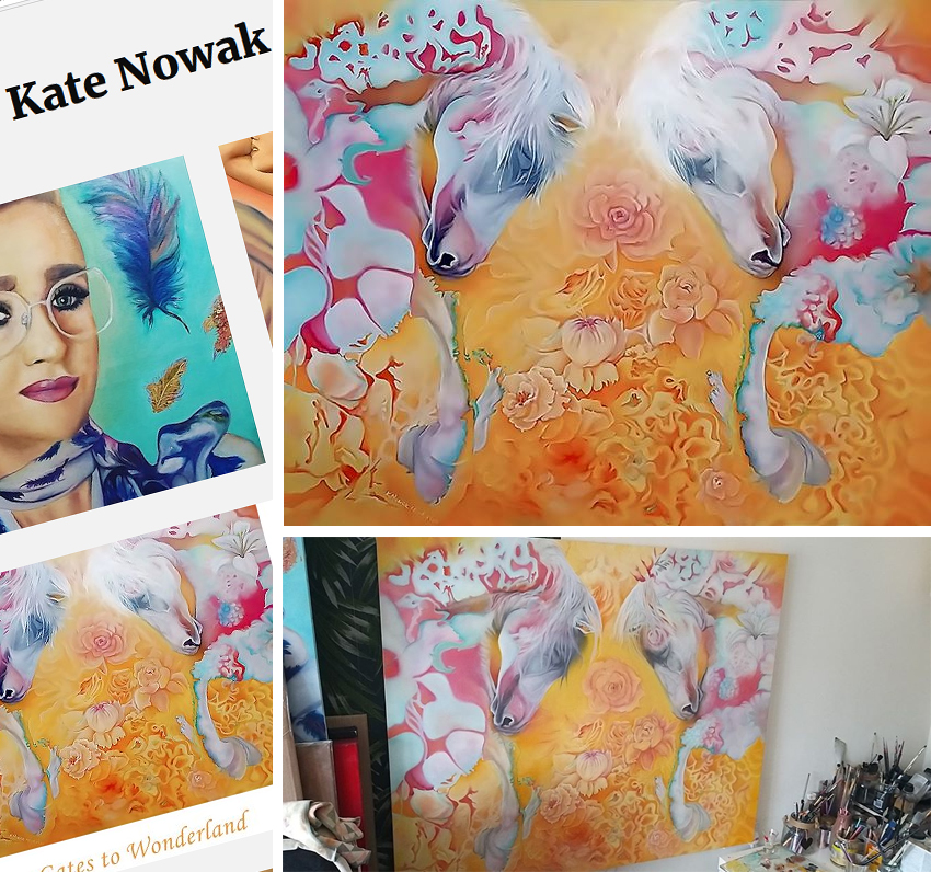 A beautiful artwork by Kate Nowak inspired by my horse photography stream from fans  Photo
