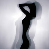 Beauty silhouette portrait of a girl – Art Photography