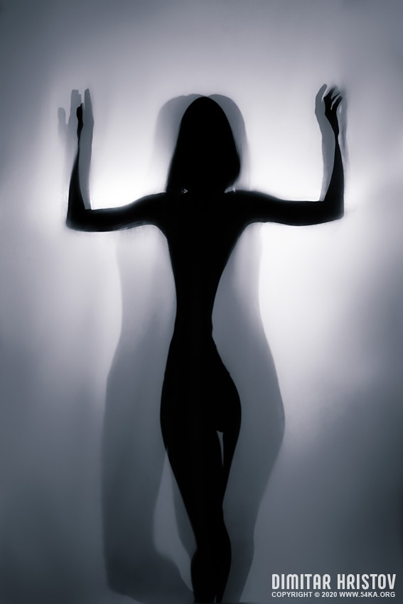 Beauty silhouette pose of a girl – Backlight Photography photography other featured black and white  Photo