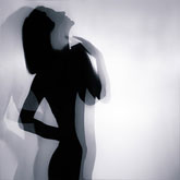 Dancer silhouette portrait