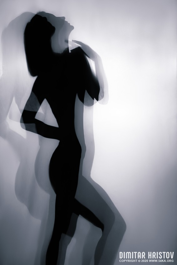 Dancer silhouette portrait photography other featured black and white  Photo
