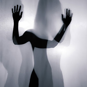 Dancing girl on backlight – Hands silhouette – Art Photography
