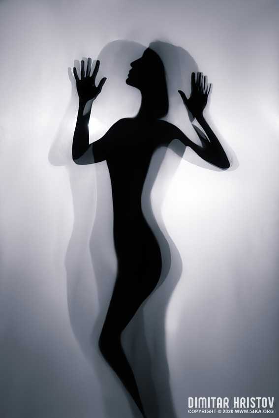 Girl on backlight – Dancing silhouette – Art Photography photography other featured black and white  Photo