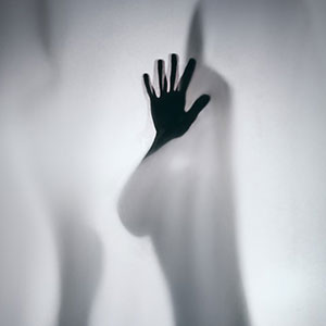Hand silhouette – studio photography
