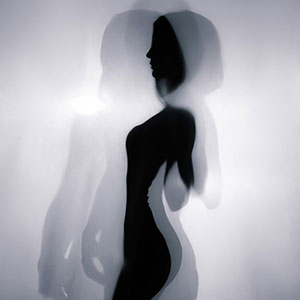 Silhouette fashion portrait studio photography