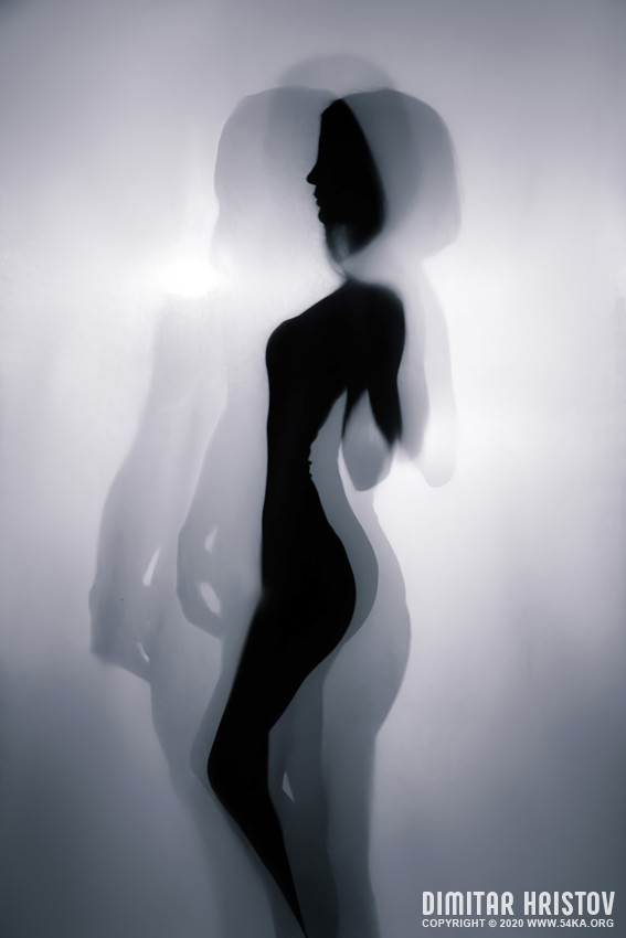 Silhouette fashion portrait studio photography photography featured fashion black and white  Photo