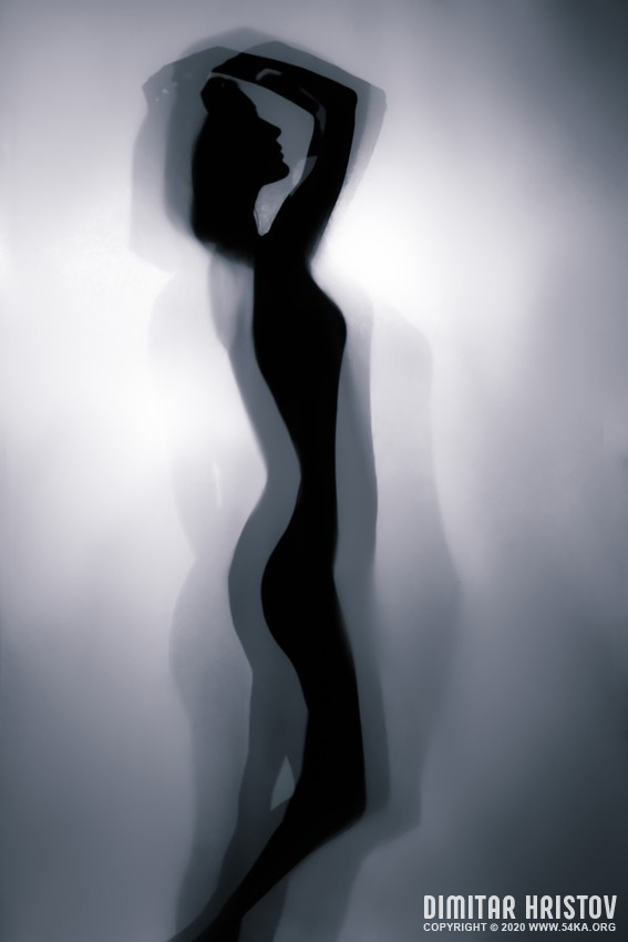 Silhouette of a girl in beautiful pose   Backlight photography photography other featured  Photo